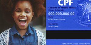 cpf para menores