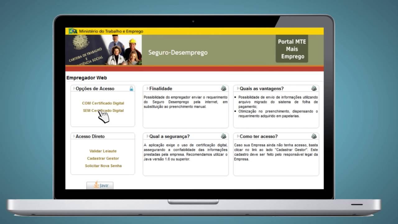 Certificado digital empregador web