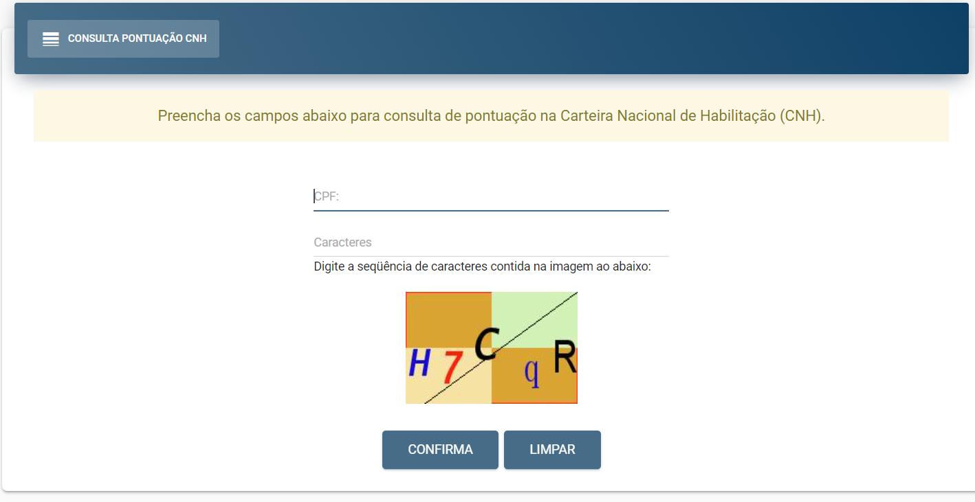 Consulta CNH Detran PA