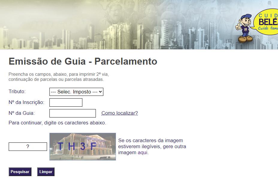 Como emitir minha guia de pagamento do IPTU Belém 2021?